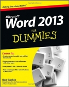 Book Word 2013 For Dummies free
