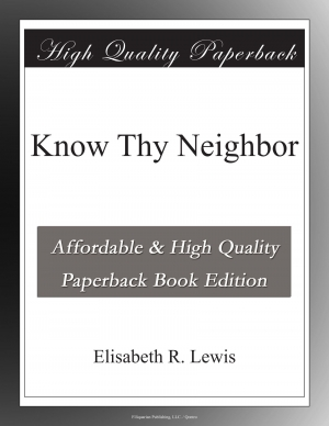 Download Know Thy Neighbor free book as epub format