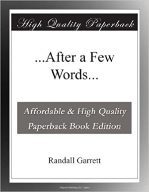 Download After a Few Words.. free book as epub format