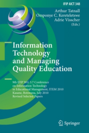 Download Information Technology and Managing Quality Education free book as pdf format