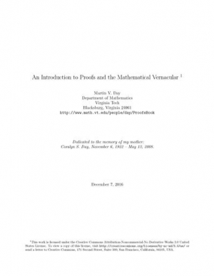 Download An Introduction to Proofs and the Mathematical Vernacular free book as pdf format