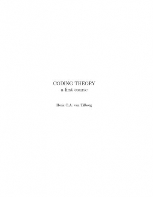 Download Coding Theory - A First Course free book as pdf format