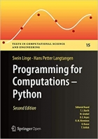 Book Programming for Computations - Python: A Gentle Introduction to Numerical Simulations with Python 3.6 free