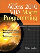 Book Microsoft Access 2010 VBA Macro Programming free