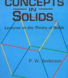 Book Concepts in Solids: Lectures on the Theory of Solids free