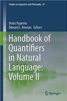 Book Handbook of Quantifiers in Natural Language: Volume II (Studies in Linguistics and Philosophy) free