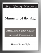 Book Manners of the Age free