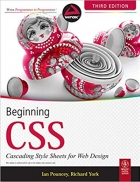 Book BEGINNING CSS:CASCADING STYLE SHEETS FOR WEB DESIGN, 3RD EDITION free