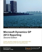 Microsoft Dynamics GP 2013 Reporting, 2nd Edition