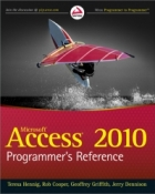 Book Access 2010 Programmer's Reference free