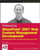 Book Professional SharePoint 2007 Web Content Management Development free